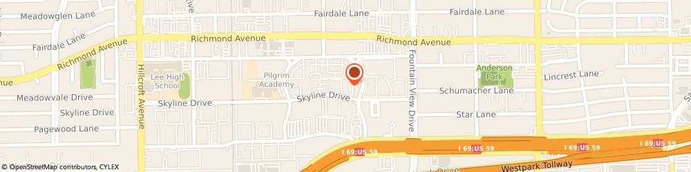 Route/map/directions to Kati Sportcap Inc, 77057 Houston, 6102 Skyline Dr