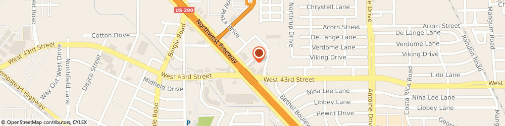 Route/map/directions to Park Inn & Suites Houston Nw, 77092 Houston, 12170 Northwest Freeway