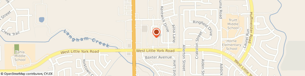 Route/map/directions to Meadow Creek Apartments, 77084 Houston, 6416 YORK MEADOWS