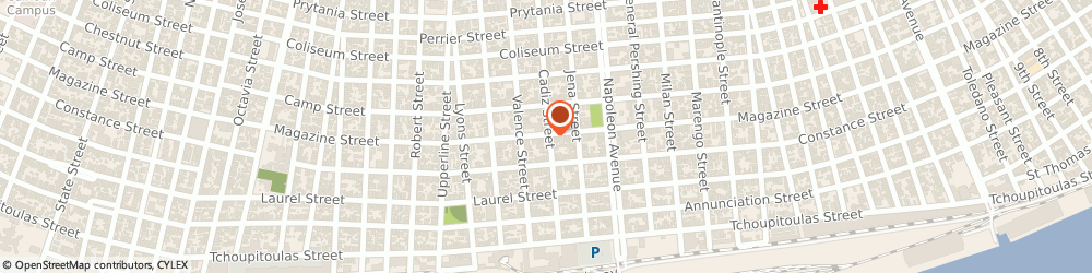 Route/map/directions to Modells Restoration & Polishing,incorporated, 70115 New Orleans, 4600 MAGAZINE STREET