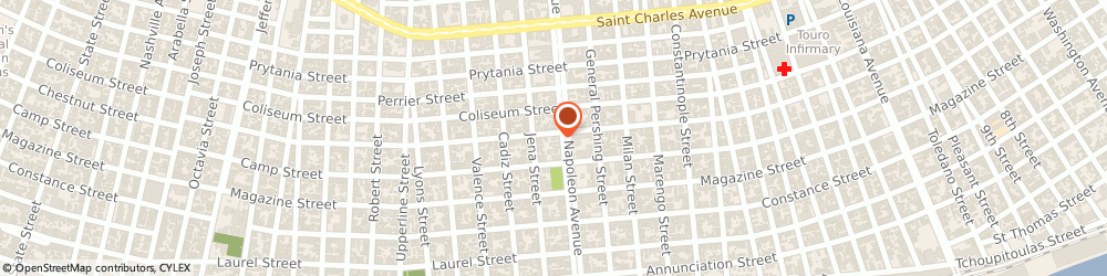 Route/map/directions to Louisiana Bucket Brigade, 70115 New Orleans, 1036 NAPOLEON AVENUE