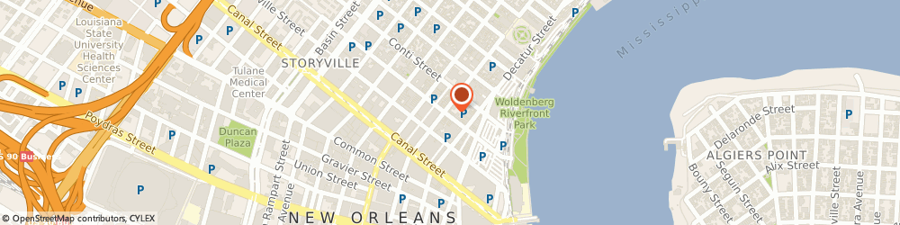 Route/map/directions to The Good Feet Store, 70130 New Orleans, 539 Bienville St
