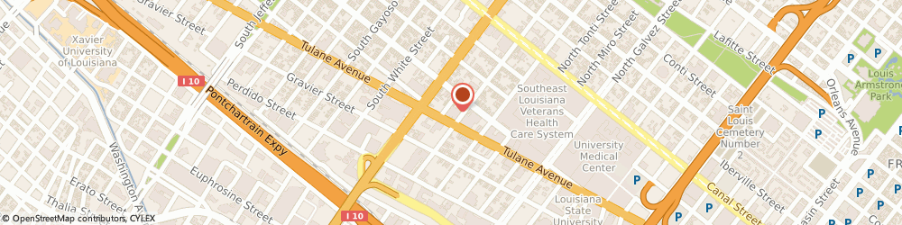 Route/map/directions to Howard Michael t Md, 70119 New Orleans, 2601 TULANE AVE STE 345