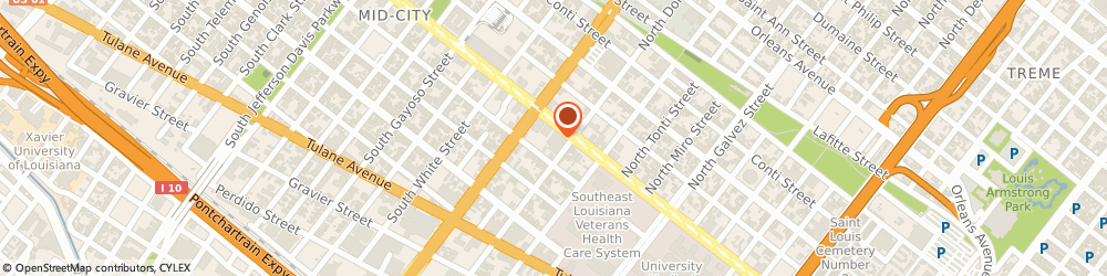Route/map/directions to Insurance Brokers & Manager Incorporated, 70119 New Orleans, 2626 CANAL STREET