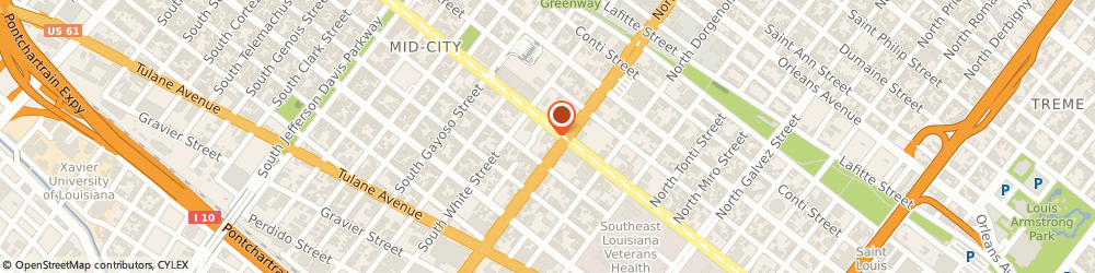 Route/map/directions to a Burghardt Insurance Agency - Downtown, 70119 New Orleans, 2714 CANAL STREET SUITE 101