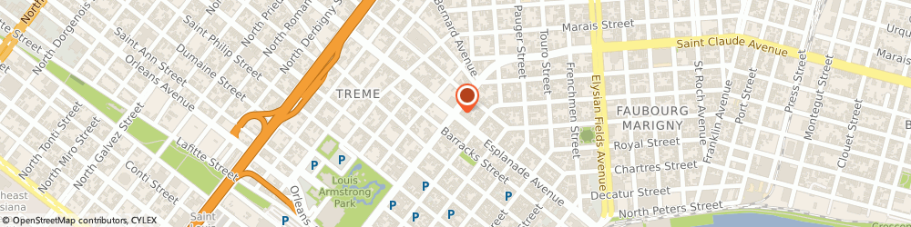 Route/map/directions to River Marine Services, Inc, 70117 New Orleans, 4535 N Rampart St