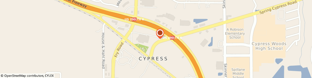 Route/map/directions to Visionworks Of America, Inc, 77429 Cypress, 17814 Spring Cypress Rd