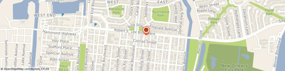 Route/map/directions to Badminton Club Of New Orleans, 70124 New Orleans, 730 ROBERT E LEE BOULEVARD