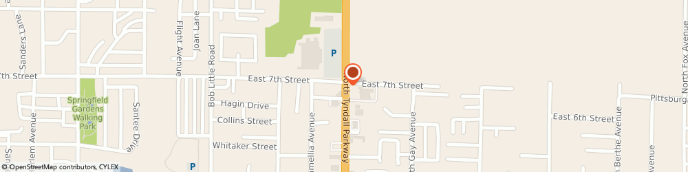 Route/map/directions to Atm Great Western Bank, 32404 Callaway, 725 No. Tyndall Pk