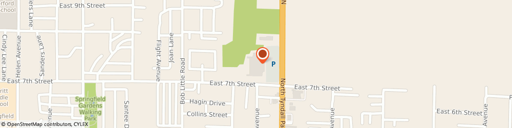 Route/map/directions to SmartStyle, 32404 Callaway, 725 N Tyndall Pkwy