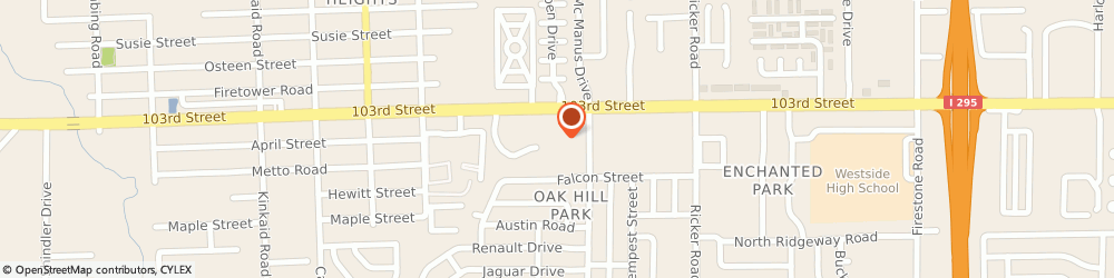 Route/map/directions to Bank of America, 32210 Jacksonville, 7900 103RD ST