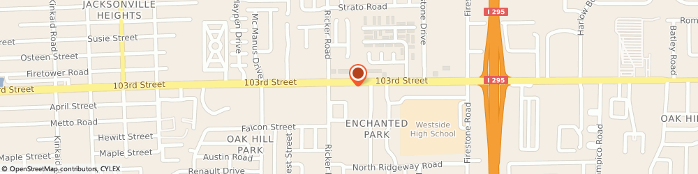 Route/map/directions to Bank of America, 32210 Jacksonville, 7445 103RD ST
