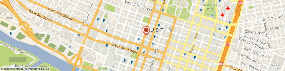 Route/map/directions to Texas Classroom Teachers Association, 78701 Austin, 700 Guadalupe St