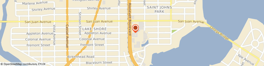 Route/map/directions to Bank of America, 32210 Jacksonville, 4495 ROOSEVELT BLVD # E1
