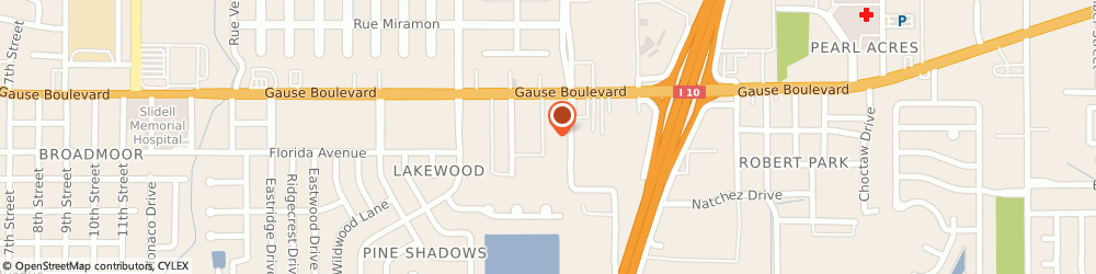 Route/map/directions to Sally Beauty Supply, 70458 Slidell, 1579 Gause Blvd