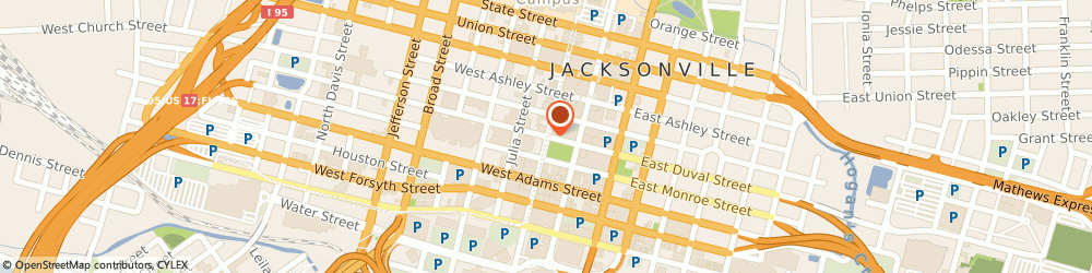 Route/map/directions to Bank Of America - Department, Private Bank Trust, 32202 Jacksonville, STREET