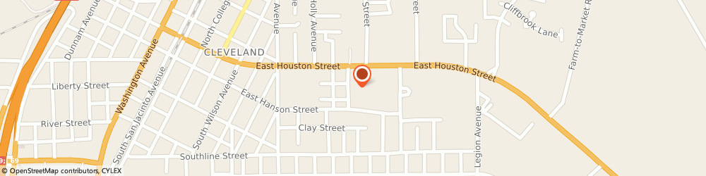 Route/map/directions to Citibank ATM, 77327 Cleveland, 908 E Houston