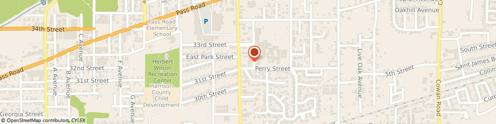 Route/map/directions to Lil' Ray's Po-Boys, 39507 Gulfport, 500A COURTHOUSE RD
