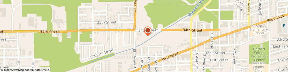 Route/map/directions to Knights Of Columbus, 39501 Gulfport, 733 34TH STREET