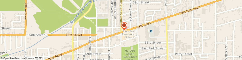 Route/map/directions to Walker f & Associates Architects, 39507 Gulfport, 3451 WASHINGTON AVE # A