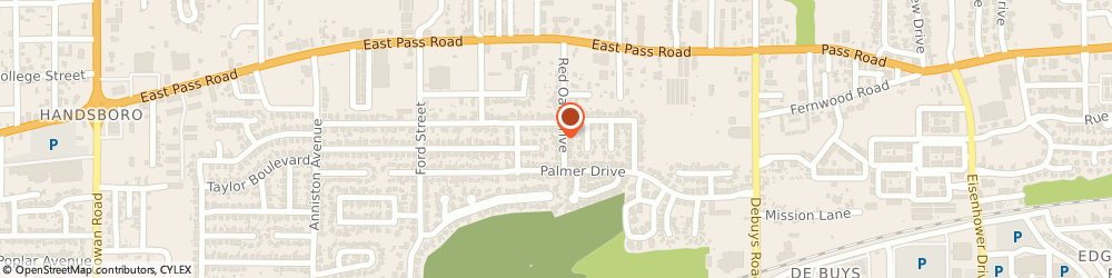 Route/map/directions to Leopard Don Architect, 39507 Gulfport, 511 RED OAK DRIVE