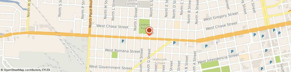 Route/map/directions to Allstate Insurance Co, 32501 Pensacola, 1412 W GARDEN ST