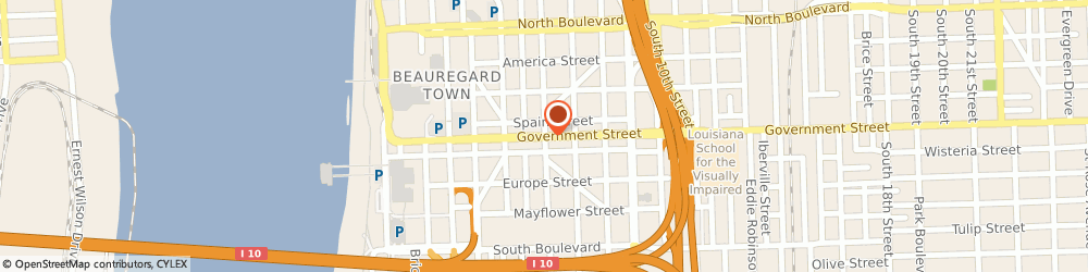 Route/map/directions to Square 46, 70806 Baton Rouge, 4646 Government Street