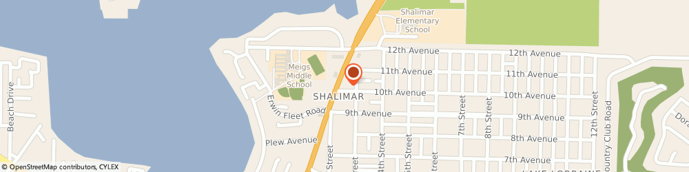Route/map/directions to Subway, 32579 Shalimar, 1261 N Eglin Pky