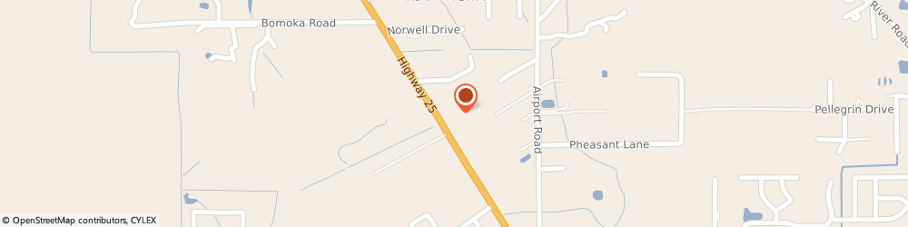 Route/map/directions to Enterprise, 70435 Covington, 74258 Highway 25