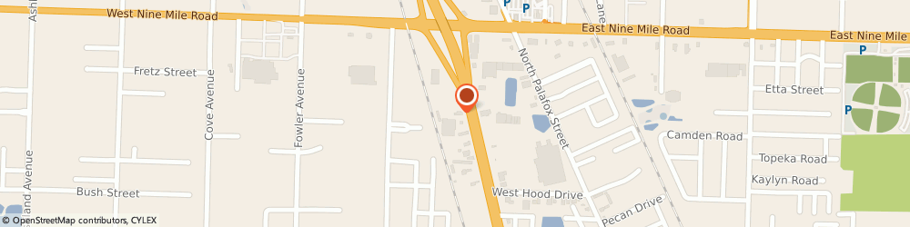 Route/map/directions to Bridgestone Tires Dealer, 32534-1928 Pensacola, 8969 Pensacola Blvd