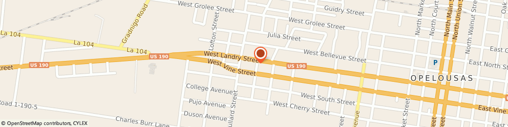 Route/map/directions to Fastenal, 70570 Opelousas, 1307 West Landry (Hwy 190W)