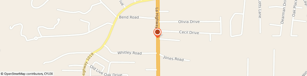 Route/map/directions to Popeyes Louisiana Kitchen, 70706 Denham Springs, 34579 Hwy 16