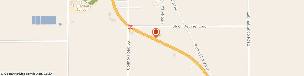 Route/map/directions to Circle K, 36551 Loxley, 26467 HWY 59