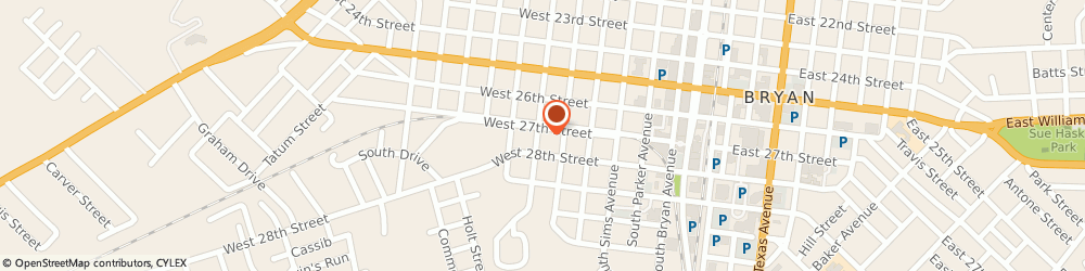 Route/map/directions to Garcia Roofing, 77803 Bryan, 609 WEST 27TH STREET