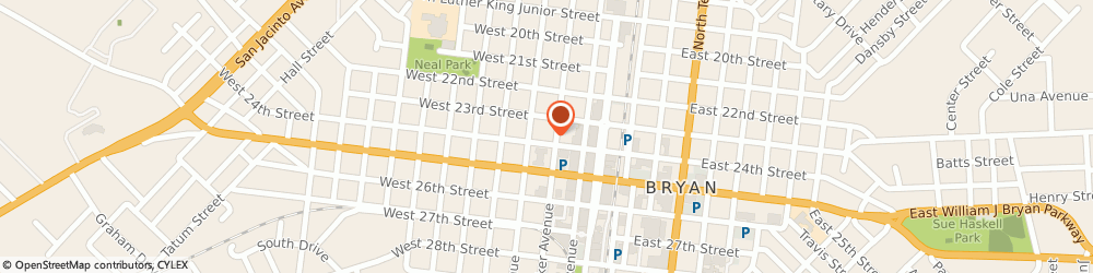 Route/map/directions to Haswell House, 77803 Bryan, 300 WEST 24TH STREET