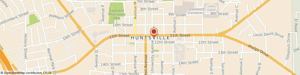 Route/map/directions to Firestone, 77340 Huntsville, 1716 11Th St