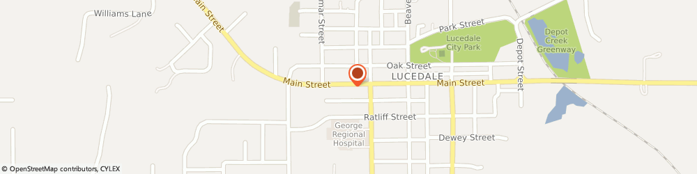 Route/map/directions to H&R Block, 39452 Lucedale, 1 Palm Plaza