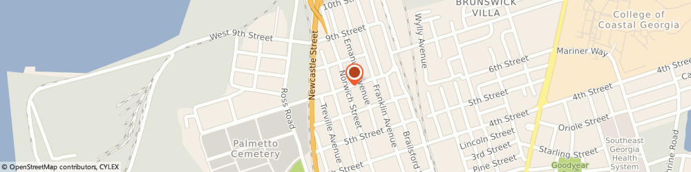 Route/map/directions to Praxair, Inc., 31520 Brunswick, 3705 NORWICH ST.