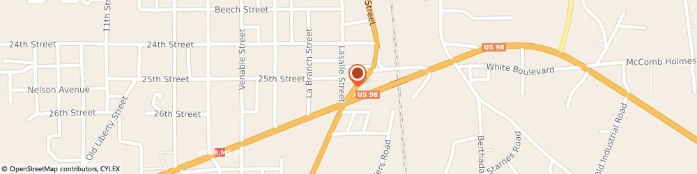 Route/map/directions to BP, 39648 Mccomb, 1218 S BROADWAY ST