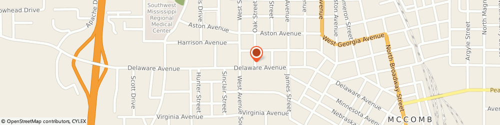 Route/map/directions to AutoZone Auto Parts, 39648 Mccomb, 1202 Delaware