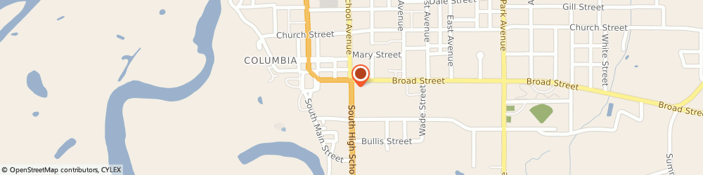 Route/map/directions to Firestone Retailer, 39429 Columbia, 504 S. High School Avenue