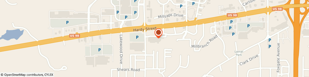 Route/map/directions to Shoe Carnival, 39402 Hattiesburg, 5044 Hardy St