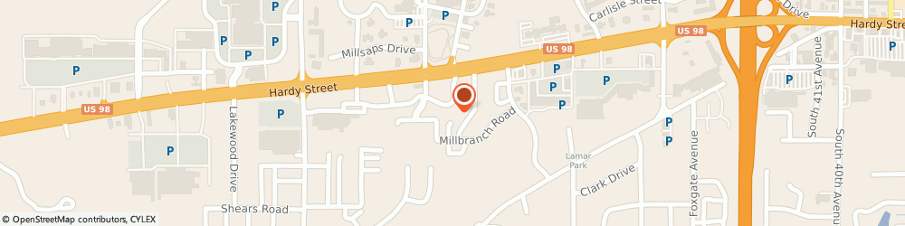 Route/map/directions to American Express Financial Advisors Incorporated, 39402 Hattiesburg, 109 FAIRFIELD DRIVE # 50