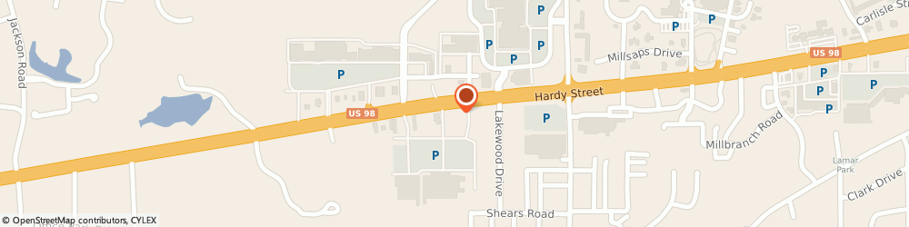 Route/map/directions to The UPS Store, 39402 Hattiesburg, 6068 US Hwy 98 W