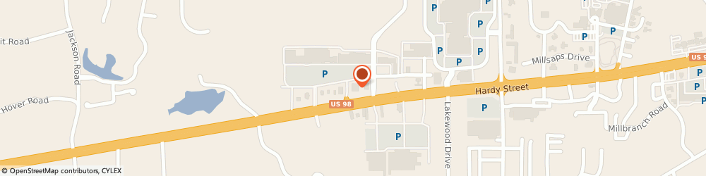 Route/map/directions to Lane Bryant, 39402 Hattiesburg, 6111 US Highway 98