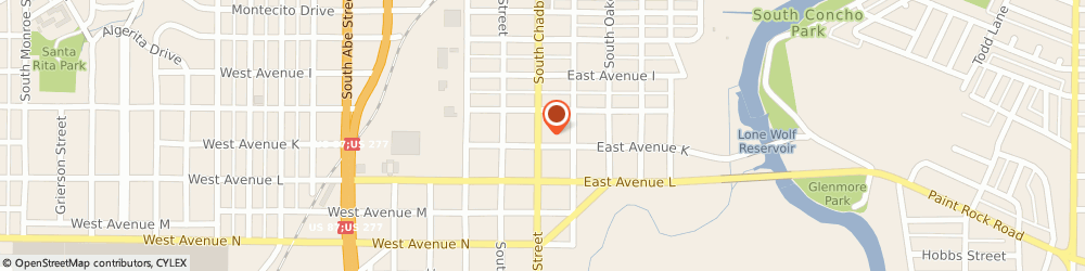 Route/map/directions to WILSON TIRE WHEEL & AUTO, 76903 San Angelo, 1426 S Chadbourne St