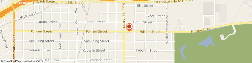 Route/map/directions to HARGRAVES TIRE AND AUTO, 76905 San Angelo, 1617 Pulliam Street