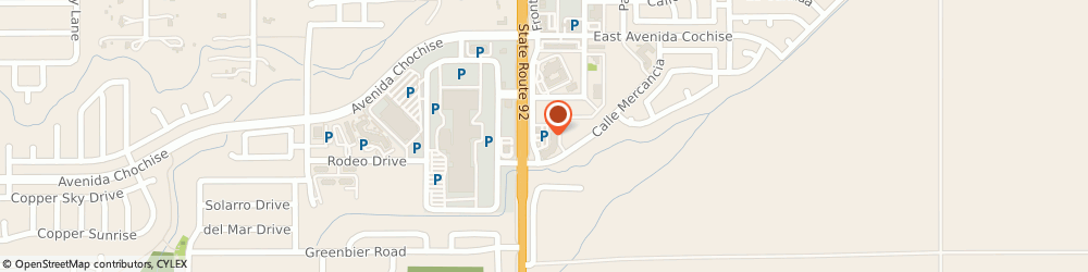 Route/map/directions to Doug Clark CPA Tax Returns, 85635 Sierra Vista, 2151 Frontage Rd