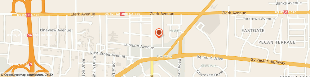 Route/map/directions to U-Haul Co, 31705 Albany, 210 N MOCK RD