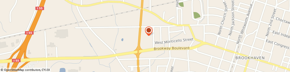 Route/map/directions to AutoZone Auto Parts, 39601 Brookhaven, 106 Hwy 51 N